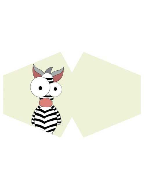 Mascarilla reutilizable con filtro tamaño niño Crazy Zebra
