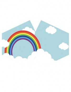Mascarilla reutilizable con filtro tamaño niño Rainbow
