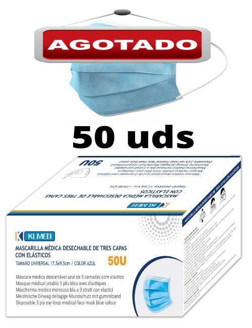 Caja de Mascarillas Quirúrgicas 50 unidades