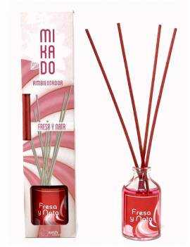ambientador mikado con aroma a Fresa y Nata.