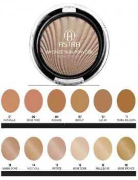 Maquillaje para cara efecto bronceado en polvos compactos