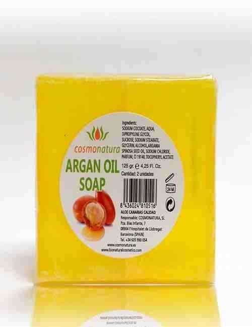 Jabon de Glicerina con Aceite de Argan formato de 2 Pastillas