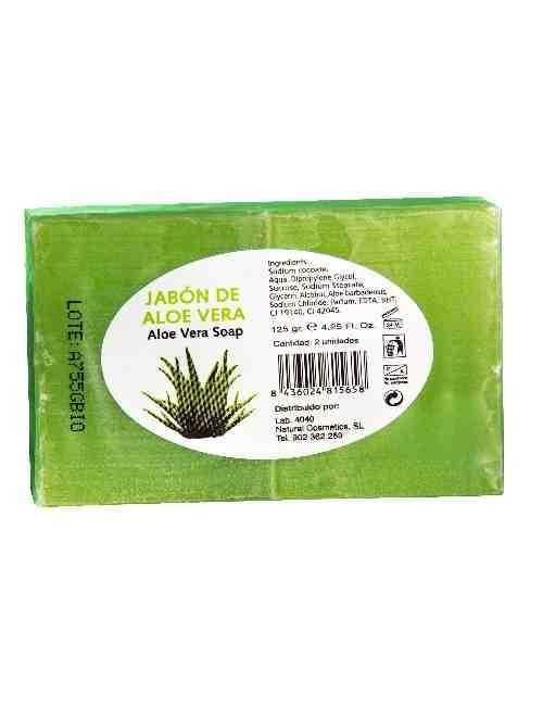 Jabon de Glicerina con Aloe Vera formato de 2 Pastillas