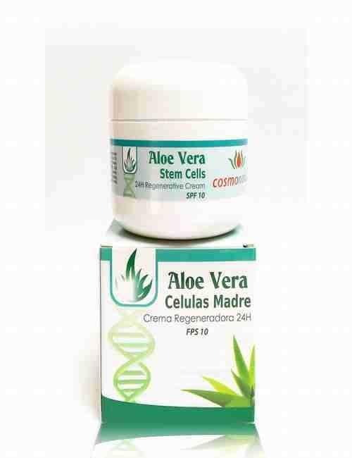 Crema de Cara Regeneradora 24 Horas con células madre y Aloe Vera