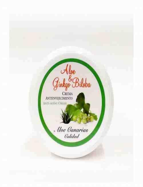 Crema de Cara Ante Edad con Aloe Vera y Ginkgo Biloba